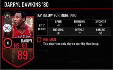 NBA Live Mobile Darryl Dawkins